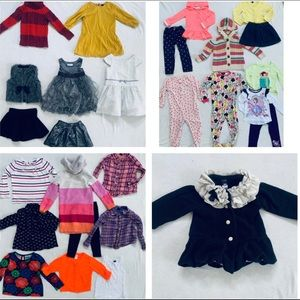 Huge Lot Toddler Girl Clothing GAP Janie Jack 3T